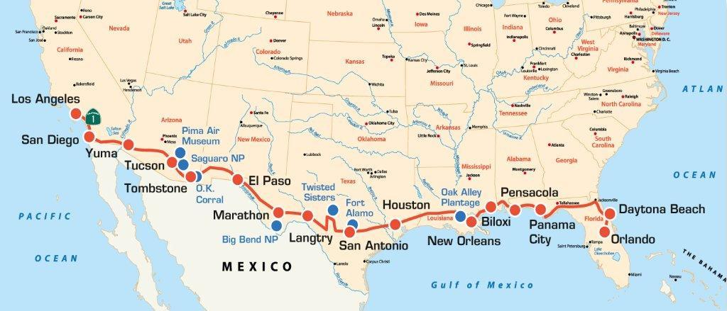 USA: Bikertour - COAST TO COAST VON ORLANDO NACH LOS ANGELES