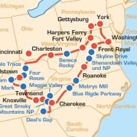 USA: Bikertour - Appalachen Kurven Tour, Blue Ridge Parkway & Bourbon Trail